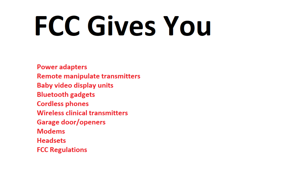 FCC gives you